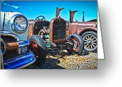 1949 Plymouth Greeting Cards - Antique Auto Sales Greeting Card by Steve McKinzie