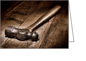 Handle Greeting Cards - Antique Blacksmith Hammer Greeting Card by Olivier Le Queinec