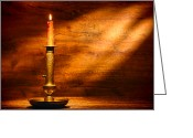 Handmade Greeting Cards - Antique Candlestick Greeting Card by Olivier Le Queinec