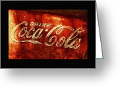 Coke Greeting Cards - Antique Coca-Cola Cooler II Greeting Card by Stephen Anderson