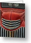 Antique Truck Greeting Cards - Antique Fire Engine Greeting Card by Karol  Livote