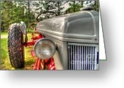Ford Engine Greeting Cards - Antique Ford Tractor Greeting Card by Michael Garyet