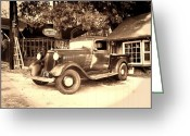Classic Auto Greeting Cards - Antique Road Warrior - 1935 Dodge Greeting Card by Glenn McCarthy Art and Photography