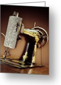 Kelley King Greeting Cards - Antique Singer Sewing Machine 2 Greeting Card by Kelley King