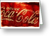 Coke Greeting Cards - Antique soda cooler 2A Greeting Card by Stephen Anderson