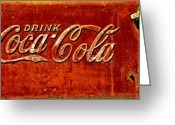 Coke Greeting Cards - Antique soda cooler 3 Greeting Card by Stephen Anderson