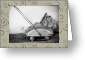Pram Greeting Cards - Antique Stroller Greeting Card by Emilio Lovisa