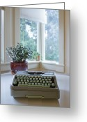 Trees Light Windows Greeting Cards - Antique Typewriter Greeting Card by Ben Sandall