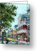 New Orleans Artist Greeting Cards - Antoines Greeting Card by Dianne Parks