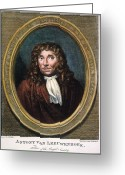Cravat Greeting Cards - ANTON van LEEUWENHOEK Greeting Card by Granger