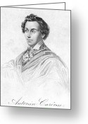 Autograph Photo Greeting Cards - Antonin CarÊme (1783-1833) Greeting Card by Granger