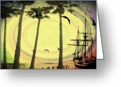 Storm Digital Art Greeting Cards - Any Port in a Storm Greeting Card by Bill Cannon