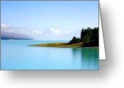 Lord Of The Rings Greeting Cards - Aoraki and Lake Pukaki Greeting Card by Kevin Smith