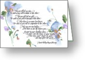 "\""blue Flowers\\\"" Greeting Cards - Apache Wedding Prayer Blessing Greeting Card by Darlene Flood"
