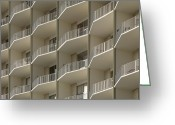 Horizontal Lines Greeting Cards - Apartment Balconies Greeting Card by Roberto Westbrook