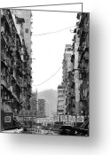 Apartment Greeting Cards - Apartment Buildings Greeting Card by All rights reserved to C. K. Chan