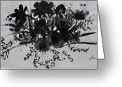 Chinese Brush Art Greeting Cards Greeting Cards - Aplomb Greeting Card by Don  Wright