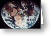 1970s Photo Greeting Cards - Apollo 11: Earth Greeting Card by Granger