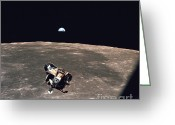Lunar Photo Greeting Cards - Apollo 11 Module Ascends To Columbia Greeting Card by Nasa