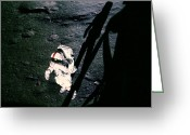 Lunar Photo Greeting Cards - Apollo 14 Astronaut Al Shepard Greeting Card by Nasa