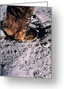 Lunar Photo Greeting Cards - Apollo 14 Foot Pad Greeting Card by Nasa