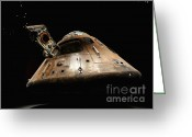 Exploration Digital Art Greeting Cards - Apollo 14 Greeting Card by Glennis Siverson