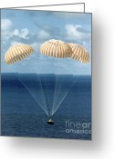 Fourteen Greeting Cards - Apollo 14 Water Landing Greeting Card by NASA / Science Source