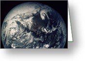 1970s Photo Greeting Cards - Apollo 16: Earth Greeting Card by Granger