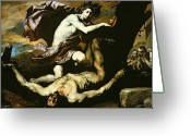Torture Greeting Cards - Apollo and Marsyas Greeting Card by Jusepe de Ribera
