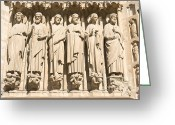 The Last Judgement Greeting Cards - Apostles on Last Judgement Portal Greeting Card by Fabrizio Ruggeri