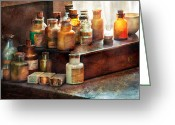 Md Greeting Cards - Apothecary - Chemical Ingredients  Greeting Card by Mike Savad
