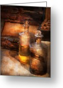 Poison Greeting Cards - Apothecary - Special Medicine  Greeting Card by Mike Savad