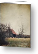 Log House Greeting Cards - Appalachian Cabin Greeting Card by Stephanie Frey