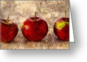 Texture Greeting Cards - Apple Greeting Card by Bob Orsillo