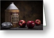 Tin Greeting Cards - Apple Cider Still Life Greeting Card by Tom Mc Nemar