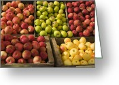 Crisp Greeting Cards - Apple Harvest Greeting Card by Garry Gay