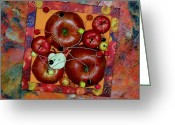 Wire Mixed Media Greeting Cards - Apple Jam Greeting Card by Sveta Shved