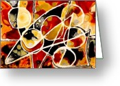 Representative Abstract Greeting Cards - Apple Orchard Greeting Card by David Raderstorf