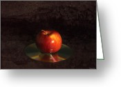 Cd Greeting Cards - Apple Greeting Card by Peter Chilelli