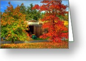Shed Digital Art Greeting Cards - Apple Shed Greeting Card by Randy Wehner Photography