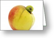 Nourishment Greeting Cards - Apple with an excrescence Greeting Card by Bernard Jaubert