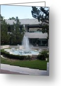 Appleton Museum Of Art Greeting Cards - Appleton Fountain Greeting Card by Warren Thompson