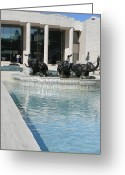 Appleton Museum Of Art Greeting Cards - Appleton Reflection Pool Greeting Card by Warren Thompson