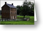 County Jail Greeting Cards - Appomattox County Jail Greeting Card by Teresa Mucha