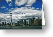 Harborfront Greeting Cards - Approach into Billy Bishop Toronto Airport Greeting Card by Jim Finch