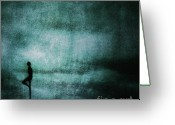 Sadness Greeting Cards - Approaching Dark Greeting Card by Andrew Paranavitana