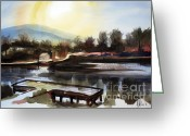 Water Colours Greeting Cards - Approaching Dusk II Greeting Card by Kip DeVore