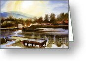 Water Colours Greeting Cards - Approaching Dusk IIb Greeting Card by Kip DeVore