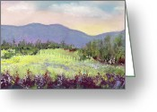 Landscapes Pastels Greeting Cards - Approaching Home Greeting Card by David Patterson
