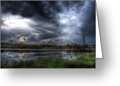 Storm Prints Greeting Cards - Approaching Storm Greeting Card by Mark Andrew Thomas